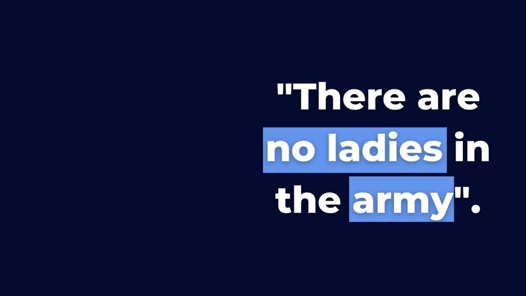 Quote from SANDF about women's role